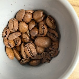 Single-origin coffee beans from Guatemala