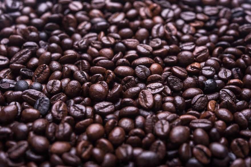 Oily coffee beans