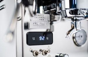 PID gauge on the Profitec Pro 300 espresso machine