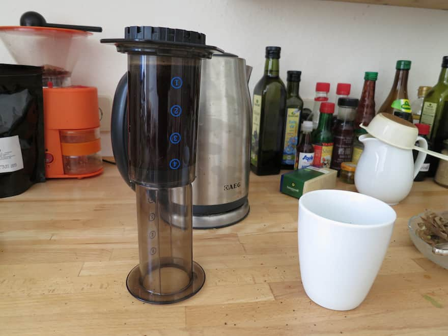 Brewing with an Aeropress using the inversion method