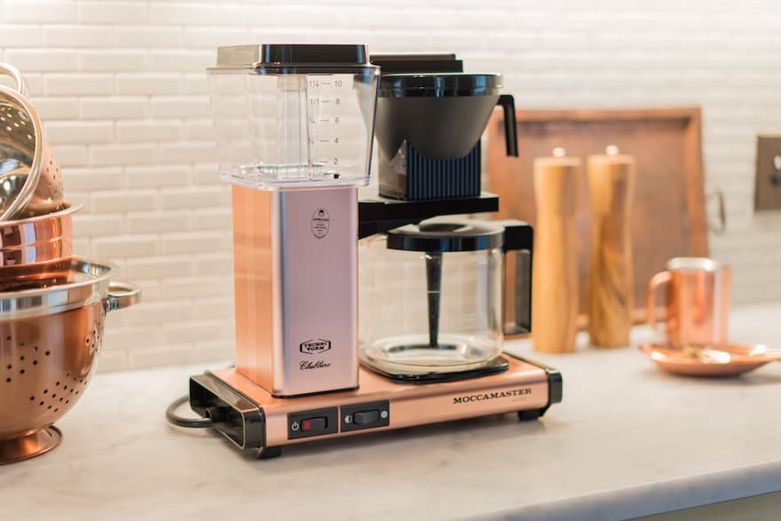 Technivorm Moccamaster KBG in copper on the kitchen counter