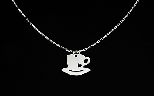 Coffee cup necklace by McLaughlin Creations on Etsy