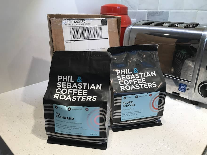 A tasty delivery from Phil & Sebastian Coffee Roasters