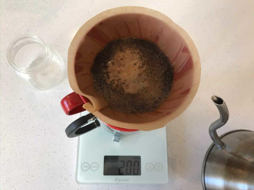 You can pause at 200 grams to let the extraction happen.